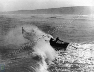 Lifeboat at Sea, Scarborough